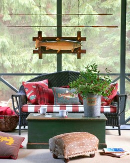 An Adirondack camp look is perfect for a log home, cabin or lodge. Fortunately, it's a fun and fairly easy look to create.