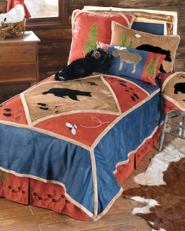 Friendly black bears make a great addition to your kids' room.