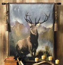 Tapestries are perfect for the lodge or cabin in the right rustic style.