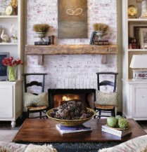 Natural accessories create a rustic space without being expensive.