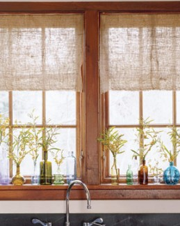 Rustic window curtains home the honoroak for Log cabin window treatments