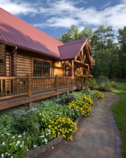 Energy efficiency for log homes at for Energy efficient cabin