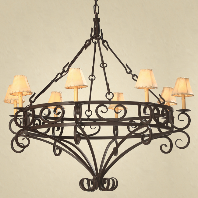 Decorating With Wrought Iron At Mexican Chandelier Image 4